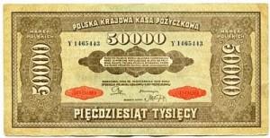 Banknot 50 000 Marek Polskich