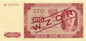 Banknot 100 zł 1948 r. Wzór